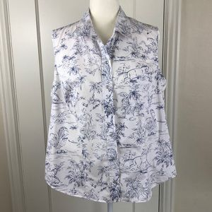 Roper horse print snap front tank top western